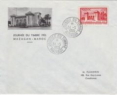 MAROC  Lettre  Journée Du Timbre  Mazagan  Mai 1955 - Maroc (1891-1956)