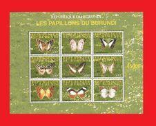BURUNDI 2008 - BUTTERFLIES PAPILLONS BUTTERFLY PAPILLON - RARE- S/S MNH - Burundi