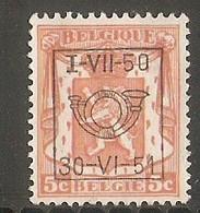 België  Nr. 604 - Preobliterati