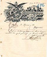 AUTRICHE GRAZ FACTURE COURRIER ILLUSTREE DU 09/07/1896 ANTON HAACK FABRIK LIQUEUR POUR J SORIN & CIE A COGNAC - Austria