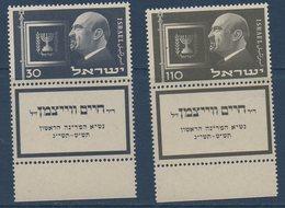 ISR     N° YT 62-63 **  MNH Avec Tab - Israel