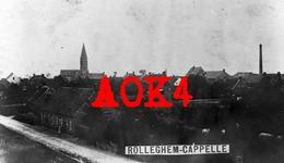 ROLLEGEM KAPELLE Ledegem Rolleghem Cappelle 1917 1918 Flandern Duitse Bezetting Kerk Panorama - Ledegem