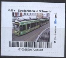 Biber Post Straßenbahn In Schwerin (Tram) (48)  G477 - BRD