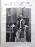 L'illustrazione Italiana 23 Agosto 1914 WW1 Morte Papa Pio X Liegi Alsazia Russi - Guerre 1914-18