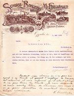 POLOGNE OPPELN FACTURE COURRIER ILLUSTREE DU 01/05/1905 FABRIK MALZ LIQUEUR POUR J SAUVION & CIE A COGNAC - Autres