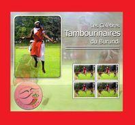 BURUNDI 2007 - MUSIC INSTRUMENTS MUSIQUE - CONGRES UPU CONGRESS NAIROBI TAMBOURS CELEBRES DU BURUNDI - RARE- S/S MNH - Burundi