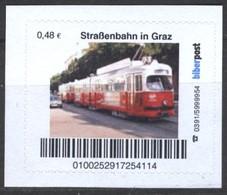 Biber Post Straßenbahn In Graz (Tram) (48)  G484 - BRD