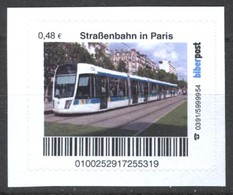 Biber Post Straßenbahn In Paris (Tram) (48)  G486 - BRD