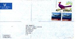 ZAMBIE. N°145 De 1975 Sur Enveloppe Ayant Circulé. Touraco. - Coucous, Touracos