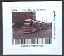 Biber Post Tw 1105 In Nürnberg (Tram) (48)  G494 - BRD