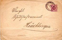 """Württemberg Amtl.Ganzs.-Dienstumschlag """"Königreich Württemberg"""" DU4AIa, 5Pf Violett, Gel. 1. Jun1987 WASSERALFINGEN - Wuerttemberg"""