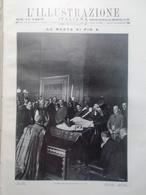 L'illustrazione Italiana 30 Agosto 1914 WW1 Morte Papa Pio X Collegio Cardinali - Guerra 1914-18