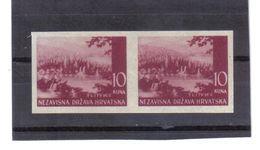 GUT1216  KROATIEN  (HRVATSKA) 1941 MICHL 60 U Geschnitten Im PAAR (*) OHNE GUMMI Siehe ABBILDUNG - Kroatien