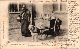ANVERS 1 CPA  C1901 éd Hermans 358 Hondenkar Attelage De Chiens Flamand, Hund, Dog LA LAITIERE Flamande TREKHOND 1e Uitg - Marchands Ambulants