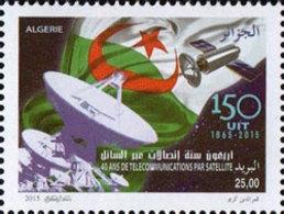 ALGERIE ALGERIA 2015 - SATELLITE SATELLITES TELECOM TELECOMS TELECOMMUNICATIONS FLAGS DRAPEAUX - MNH ** - Telecom