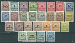 MiNr. 313-330 A Und 318-330 B ** - Unused Stamps