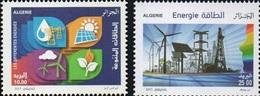 ALGERIE ALGERIA 2015 - ENERGIES ENERGY ENERGIE EOLIENNES SOLAIRE VOLTAIQUE WATER EAU ELECTRICITY OIL PETROLEUM - MNH ** - Electricidad