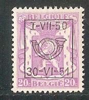 België  Nr. 606 - Preobliterati