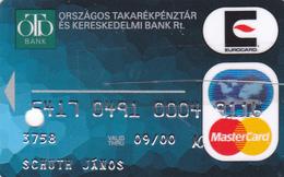 Hungary Bank Card  CUT!! - Geldkarten (Ablauf Min. 10 Jahre)
