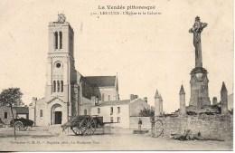 85 LES LUCS  L'Eglise Et Le Calvaire - Les Lucs Sur Boulogne