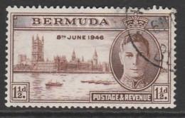 Bermuda 1946 Victory 1½ P Brown  SW 121 O Used - Bermudes