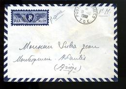 LTR2  SAIGON Courrier+sa Lettre.Guerre Indochine Postes Aux Armées T.O.E,en 1949 Voyagé Par Avion Sans Surtaxe Aérienne - Covers & Documents
