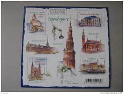 F 4637 * *    CAPITALES EUROPEENNES COPENHAGUE  NOS YT 4637/4640 * * - Neufs