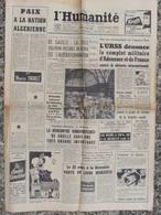 Journal L'Humanité (26 Fév 1960) Paix Algérie - Arts Ménagers - Réforme Sécurité Sociale - - Journaux - Quotidiens