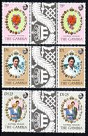GAMBIA  Mariage Prince Charles Lady Diana  Neufs Sans Charnière N° Yv 425 / 427 Avec Pont - Gambie (1965-...)