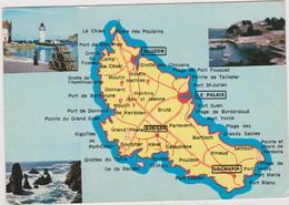 Morbihan :  Carte  Géographique : Sauzon , Le Palais , Bangor, Locmaria - Other Municipalities
