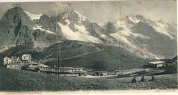 JUNGFRAUBAHN -- KLEINE  SCHEIDEGG (2064 M)               Carte Panoramique De Trois Volets - BE Berne