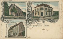 57  VALLERYSTHAL  / Restauration Michel Bamgarten La Gare Economat / BELLE CARTE COULEUR RARE - Autres Communes