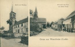 57  VESCHEIM / église Et Mairie Auberge Zum Stern Zum Johann Straub / CARTE RARE - Autres Communes