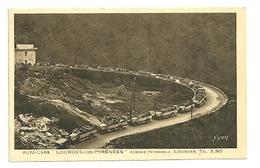 PYRÉNÉES HAUTES - Dépt N° 65 = LOURDES 1929 = CPA YVON = AUTO-CARS AVENUE PEYRAMALE / LES BERNADETTES - Lourdes