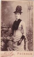 CDV PHOTO SMART LADY WEARING HAT.  PECKHAM STUDIO - Photographs
