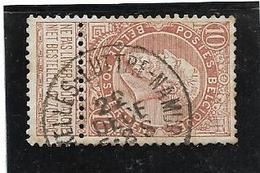 Ambulant BRUXELLES-LUTTRE-NAMUR  22 DECE ..  10 Ct Brun - 1893-1900 Thin Beard