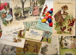 Lot 1399 De 10 CPA Lapins Bunny Rabbit Déstockage Pour Revendeurs Ou Collectionneurs Dont Gaufrées - 5 - 99 Cartoline