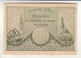 Gutschein St Oswald 1920 - 20 Heller - Leopold Krenner - Oesterreich