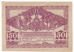 Gutschein Rutzenbam 1920 - 50 Heller - 2 Scans Recto-verso - Oesterreich