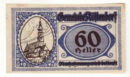 Gutschein Kostendorf 1920 - 60 Heller - 2 Scans Recto-verso - Oesterreich