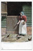 """""""Feeding The Chickens"""" - Tuck """"Rural Life"""" Series 1422 - Agriculture"""