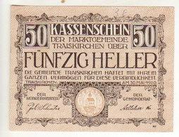 Gutschein Kassenschein 1921 - 50 Heller - 2 Scans Recto-verso - Oesterreich