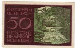 Gutschein Neufelden 1920 - 50 Heller - 2 Scans Recto-verso - Oesterreich