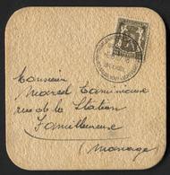 N°420 (10c Petit Sceau) Obl. BRUXELLES SALON AERONAUTIQUE 1937 Sur Sous Bock Bière Jagerbier Roelants Beer Bier - 1935-1949 Petit Sceau De L'Etat