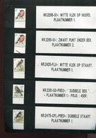 Belgie Andre Buzin Birds Variétés / Curiosités Sur 2295 2425 2351 2475 RRR Varieteiten Curiositeiten + Plaatnummers - 1985-.. Pájaros (Buzin)