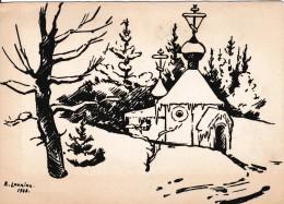 Carte Signée R.Loukine Noël  Circulée En 1949 - Illustrateurs & Photographes
