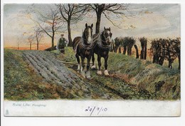 """""""Ploughing."""" - Tuck """"Rural Life"""" Series 1421 - Cultivation"""