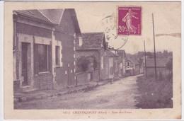 60 CHEVINCOURT Rue Des Fous ,timbres Taxes 10 Et 30 Centimes A Percevoir Au Dos - Autres Communes