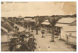 (ORL 148) Very Old Postcard - Rep Pop Congo / Zaire - Kinshasa Rue De Leopoldville  (with Congo Belge Stamp 1938) - Kinshasa - Léopoldville