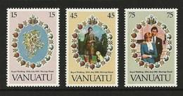VANUATU 1981 ROYALTY ROYAL WEDDING CHARLES & DIANA SET MNH - Vanuatu (1980-...)